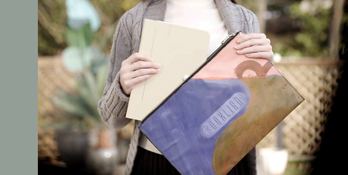 Smaller than an A4 paper,  Booklign fits perfectly into any bag and can be easily stored in an office, school, or shelf.