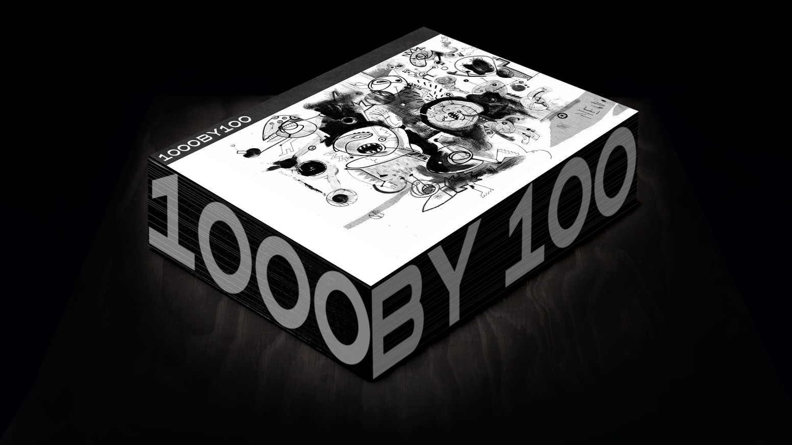 1000BY100 is a 1000-page book with 100 amazing artists.