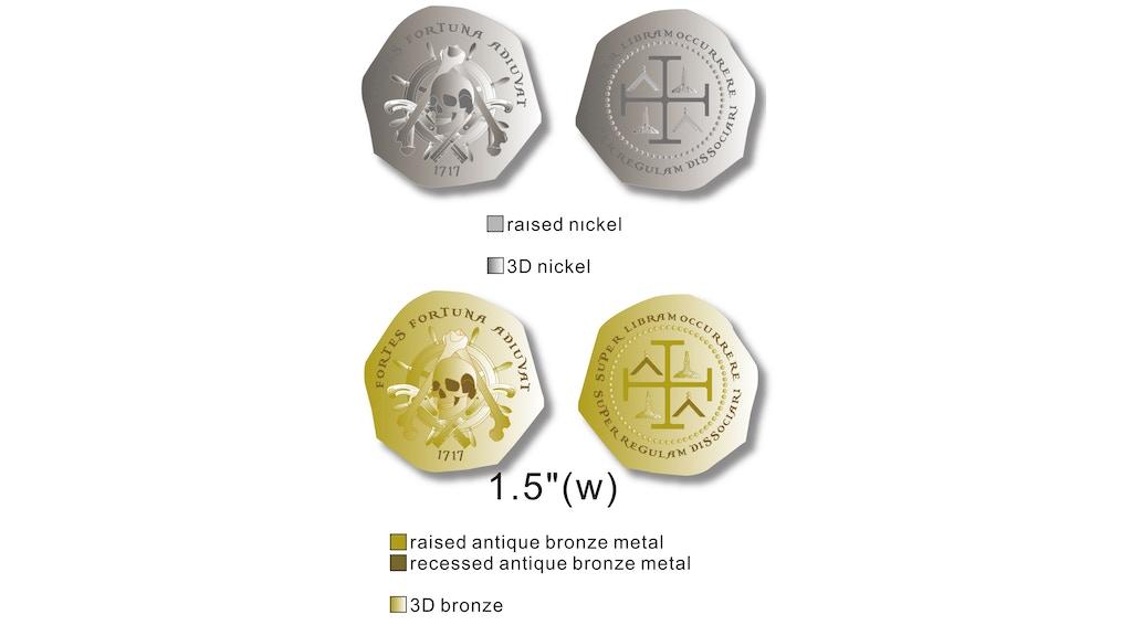 Treasure cob style Pirate coin with Masonic symbolism by Zak Bradley ...