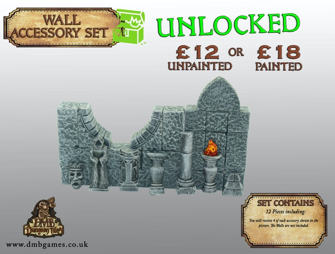 Stretch Goal 19: £11,000 -  Wall Accessories - UNLOCKED!
