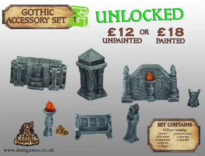 Stretch Goal 20: £11,500 - Unlocked Gothic Accessories - UNLOCKED!