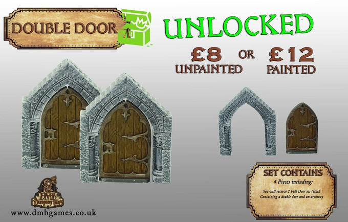 Stretch Goal 15: £9,000 Double Door - UNLOCKED!