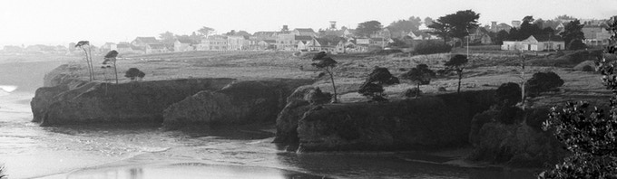 The town of Mendocino in the 1970s
