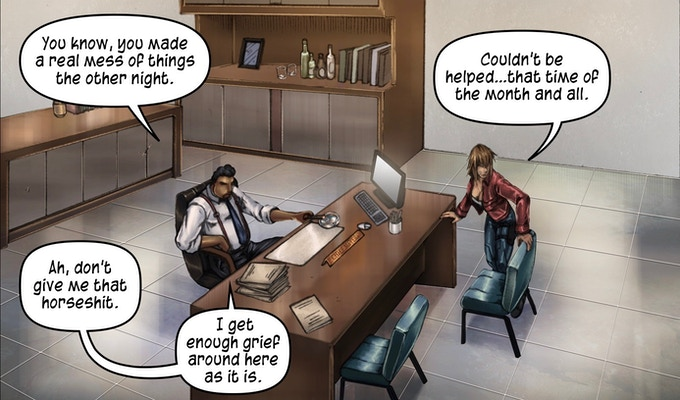 Scene from issue #6