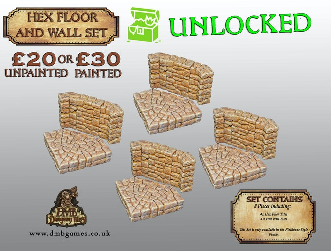 Stretch Goal 24: £13,500 - Hex Floor And Wall Tiles - UNLOCKED