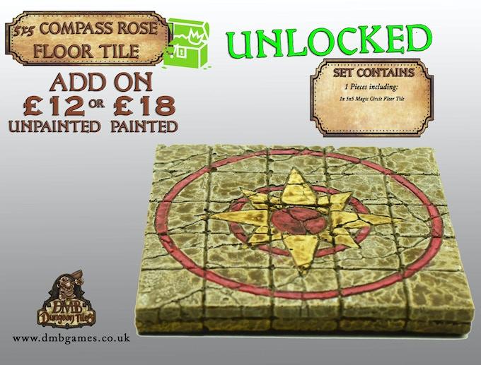 Stretch Goal 26: £14,500 - 5x5 Compass Rose Floor Tile - UNLOCKED!