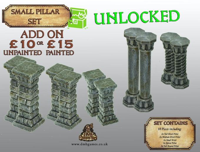 Stretch Goal 27: £15,000 - Small Pillar Set - UNLOCKED!