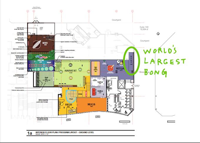 Cannabition Floor Plan - World's Largest Bong