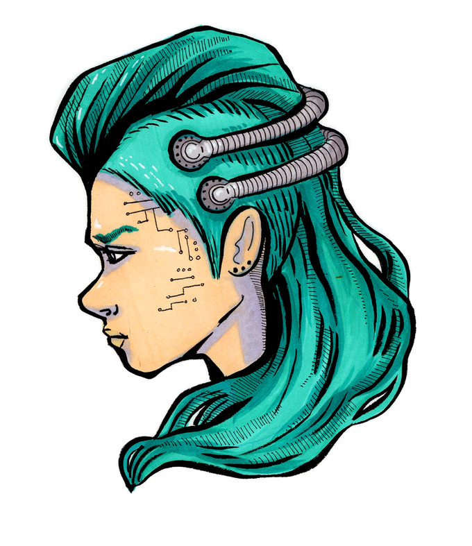 Punky cyborg
