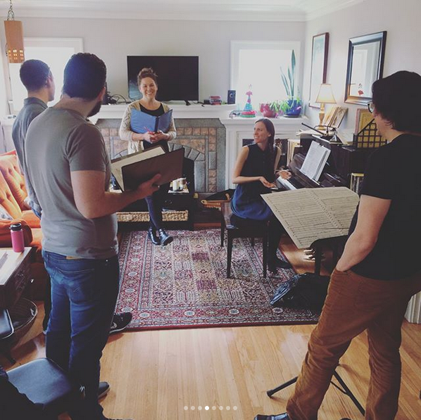 """A recent """"Emerald Tablet"""" vocal rehearsal"""