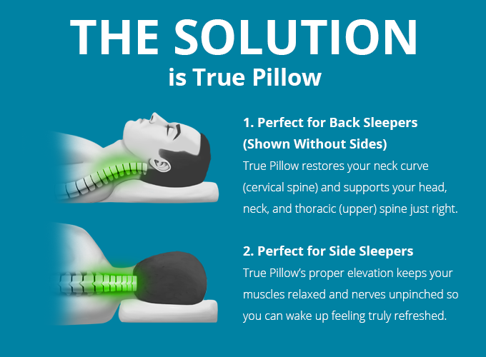 Fix Your Posture While You Sleep With True Pillow By Spine