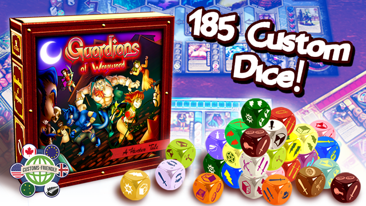 A  cooperative/competitive game of dice building, card drafting and unique player powers for 1-4 players with over 185 custom dice!