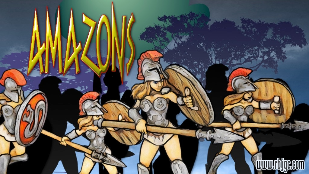 28mm Amazons cast in lead free white metal and              urethane resin for use in RPG's and tabletop war-games.