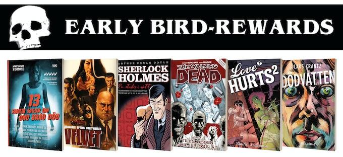 De 50 första backarna får välja en av dessa sex böcker som bonus!