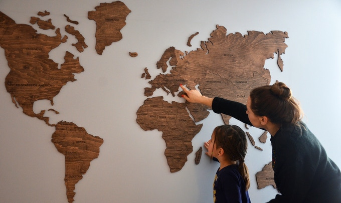 Wooden Map Of The World By Enjoythewood Original Decor By