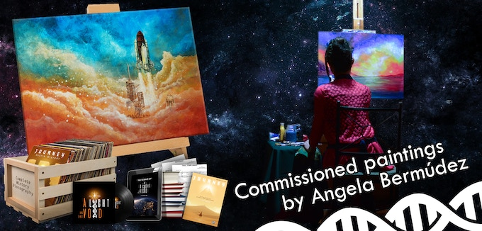 $350: Custom-commissioned science-themed paintings!