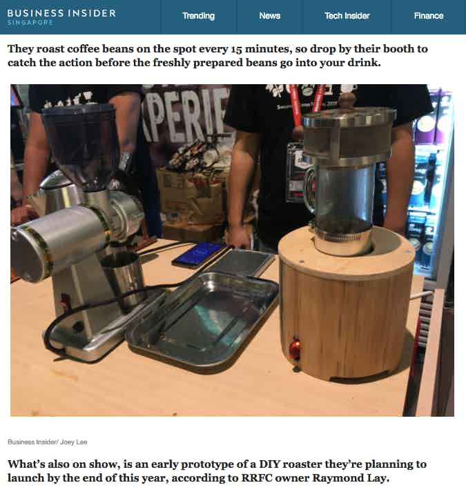 Roasting all day long @ Singapore Coffee Festival 2017