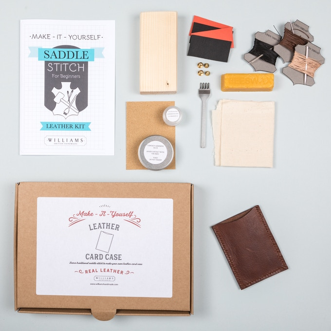 Make it yourself leather accessories kits by sarah williams single card case kit 20 solutioingenieria Gallery
