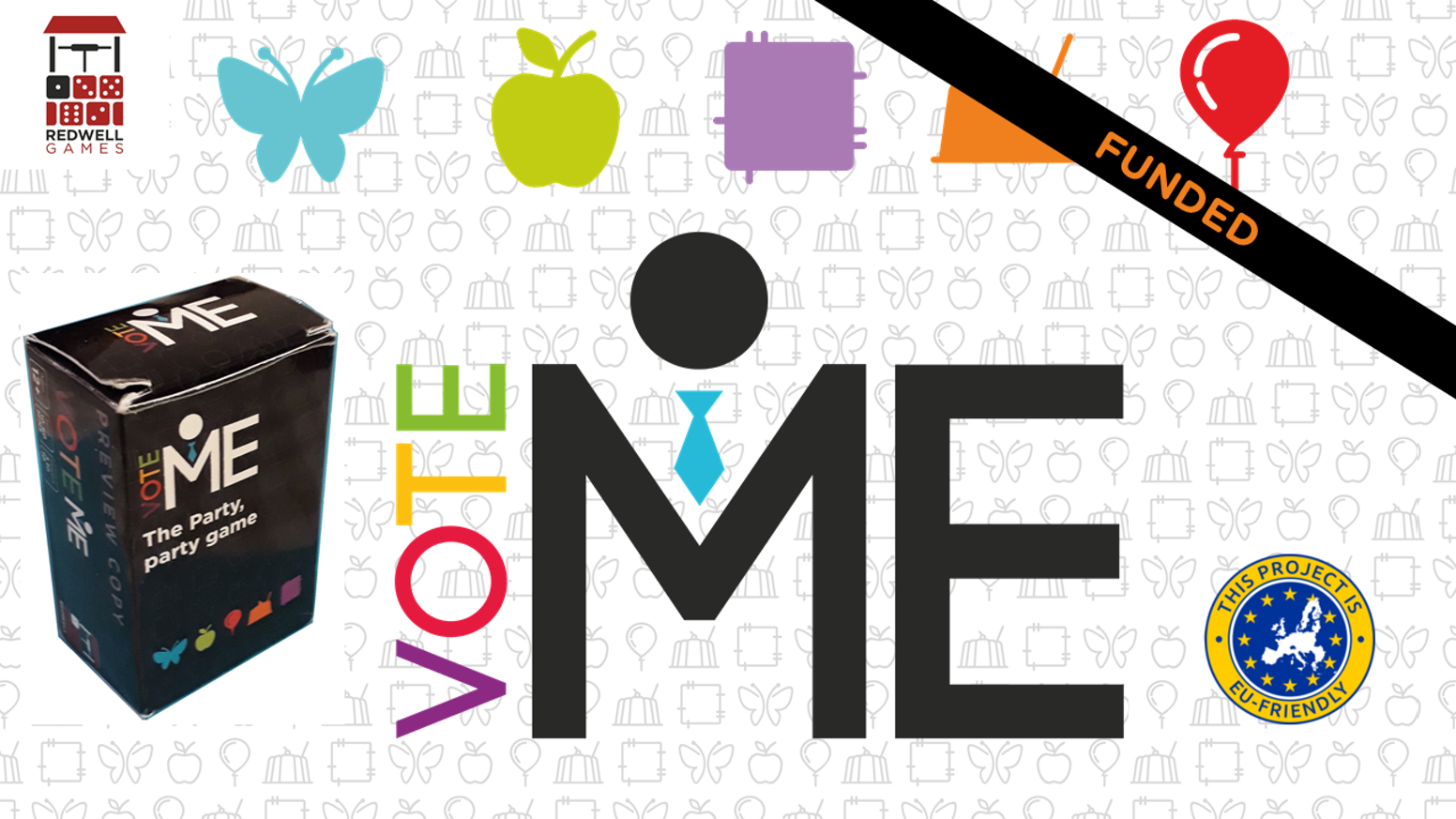 Vote ME! A party game, where players give speeches on randomly chosen policies and themes to win the most votes.