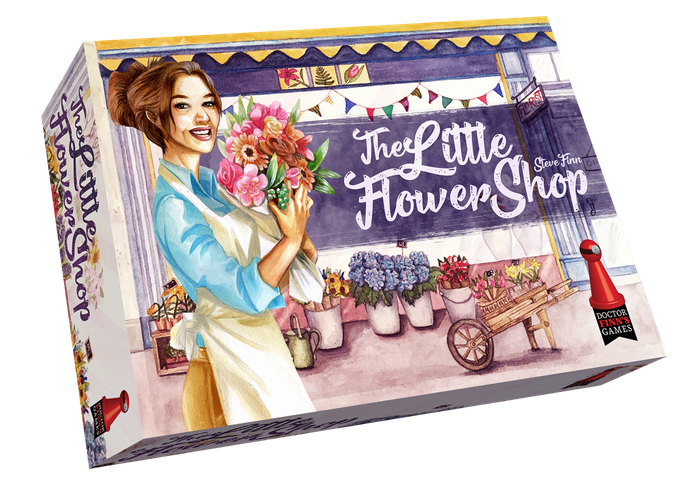 Arrange beautiful flowers in your shop window!  A fun twist to a familiar card drafting mechanic from the designer of Biblios.