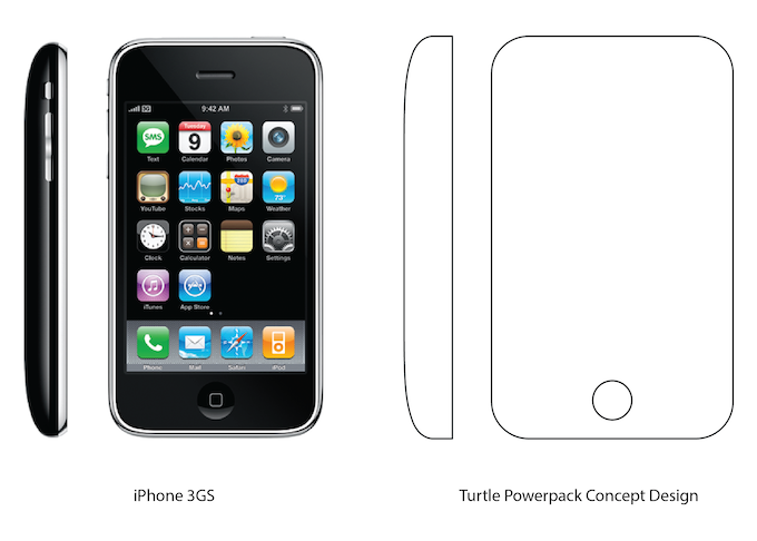 iPhone 3GS as an influence on new concept design for portable Powerpack