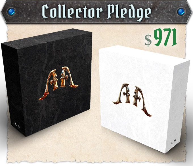 "Regular copies of the Full Pledge items will be delivered in addition to the special edition boxes with handpainted copies of Heroes. Read on ""Collector Pledge"" the full list of rewards."