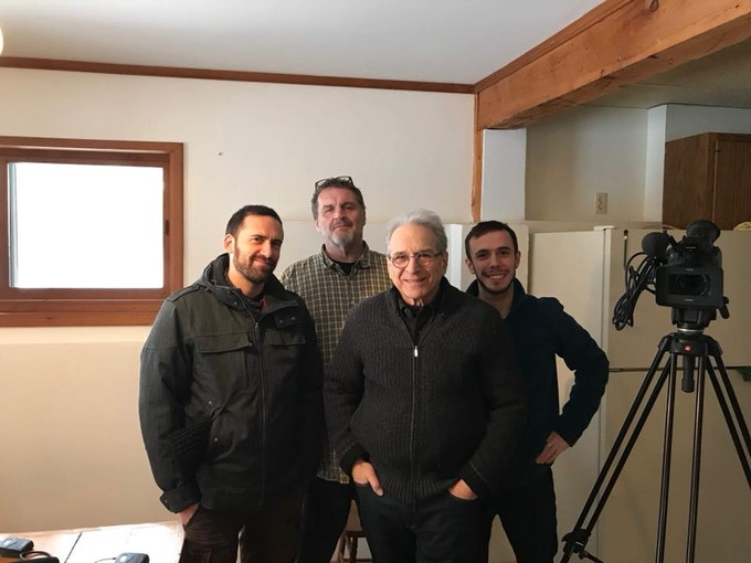 Damien Aimé Dupont (director), Jim Abbott (biographer of JCF, and friend), Happy Traum (master guitarist), and Etienne Grosbois (assistant director and cameraman)