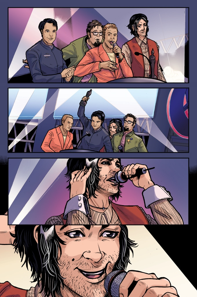 Lizard Men #2 preview page, featuring cameo reward backers from our issue 1 campaign