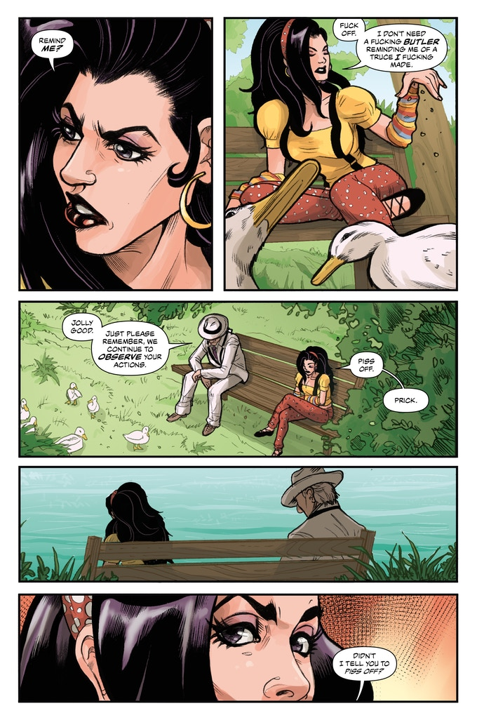 Lizard Men #2 preview page.