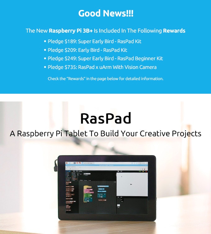Raspad: Raspberry Pi Tablet For Your Creative Projects by