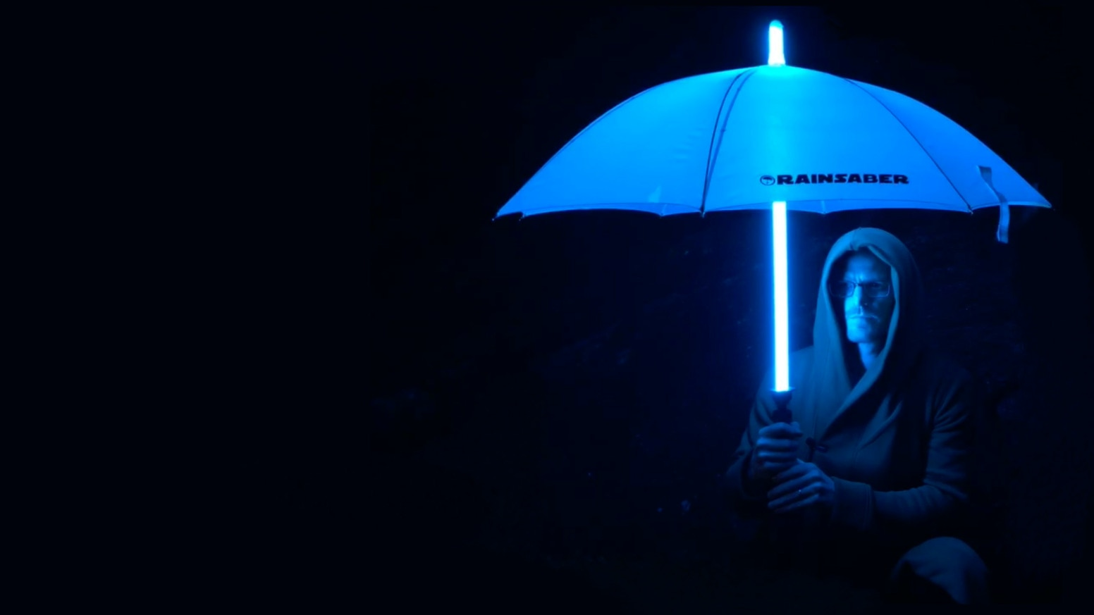 An umbrella for the hero in us all, complete with illuminating canopy, motion-activated special effects, and that oh-so-special hum.