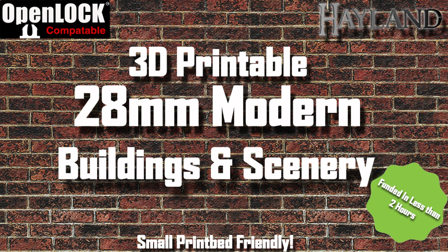 28mm Modular Modern Buildings & Scenery - STL - OpenLOCK for 3D Printing - Funded in less than 2 hours! - 3D Printable Files