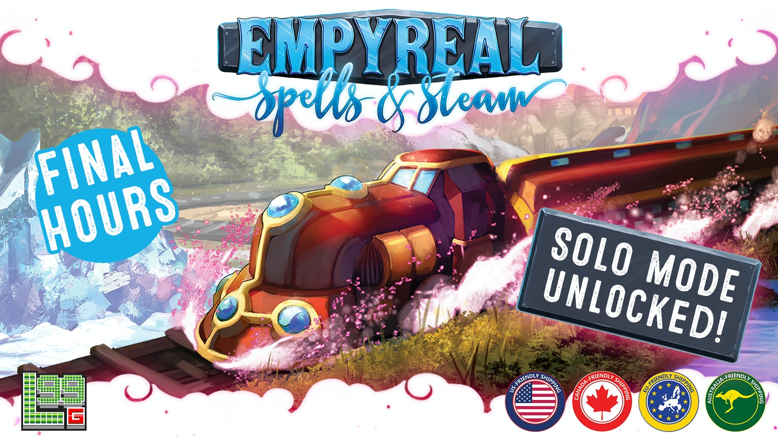 Empyreal: Spells & Steam - A Fantasy Railway-Building Game is the top crowdfunding project launched today. Empyreal: Spells & Steam - A Fantasy Railway-Building Game raised over $220829 from 2388 backers. Other top projects include Mr. Cabbagehead's Garden, Travel with my doggies in Japan! ????????????!, 1 Zillion BC (Canceled)...