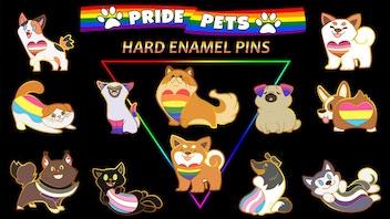 Pride Pets - Cute LGBT+ Enamel Pins