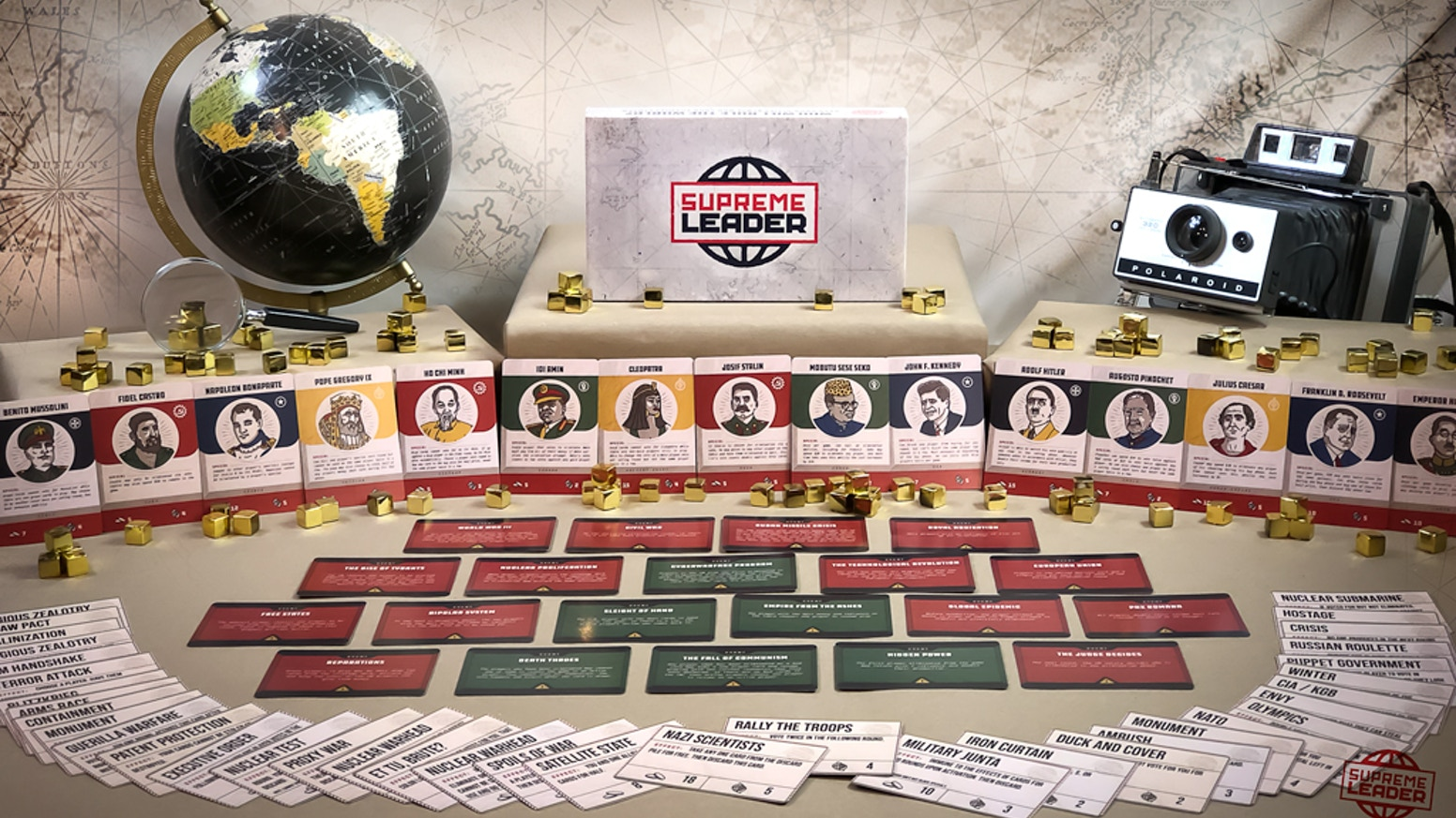 Supreme Leader is a game of politics and diplomacy that explores power dynamics and political struggles in the comfort of the home.