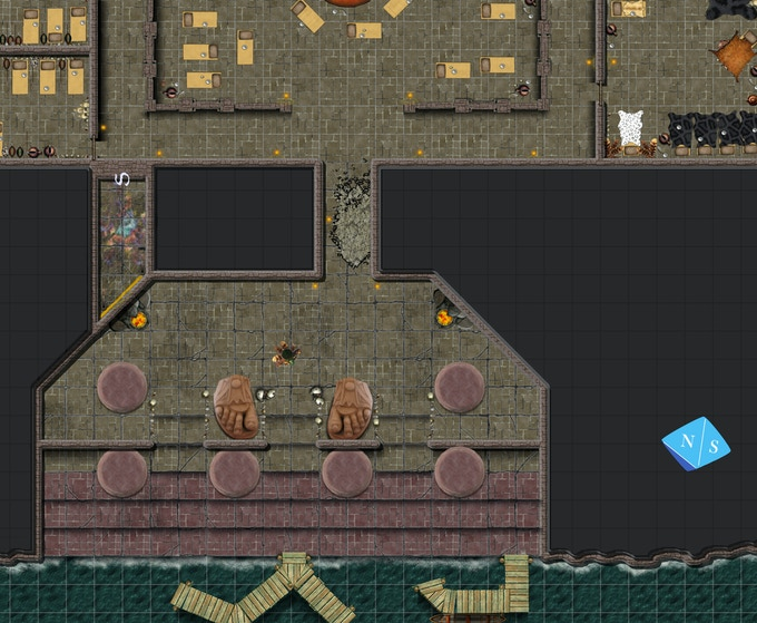 Temple map for Isle of Dread
