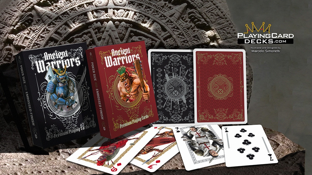 Ancient Warriors Playing Cards - Limited Edition 2 Deck Set project video thumbnail