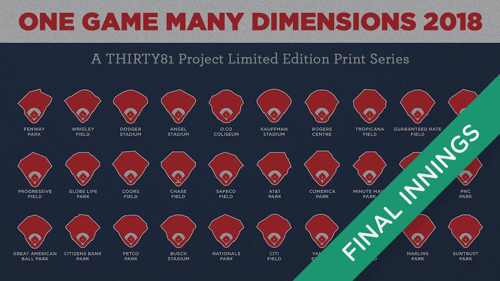 One Game Many Dimensions 2018 A Baseball Poster Series By Lou Spirito Kickstarter
