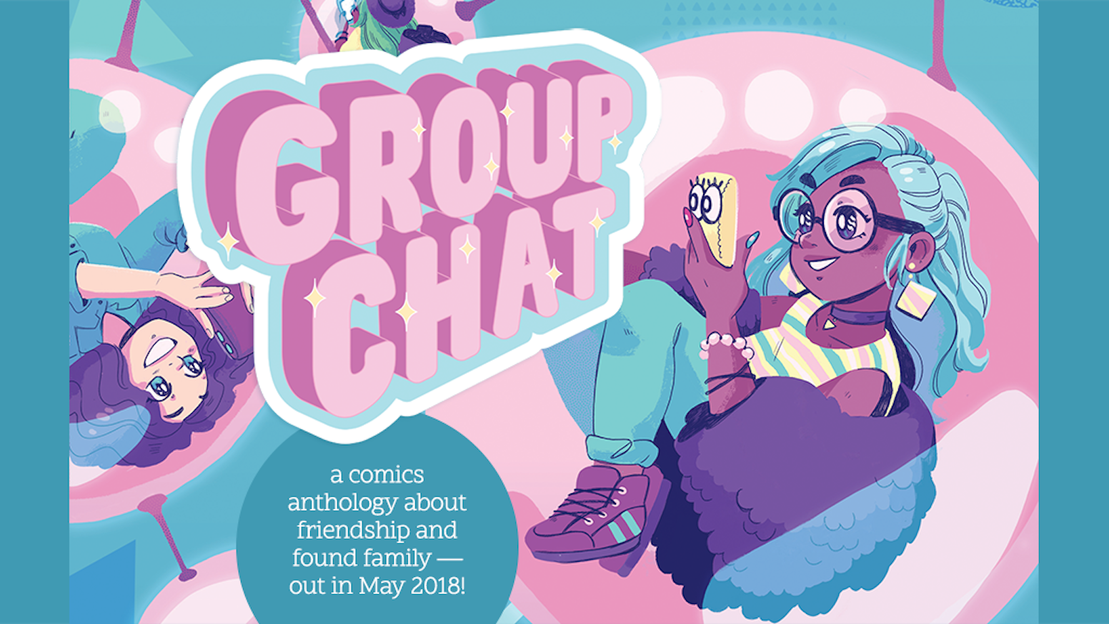 Group Chat is a comics anthology about friendship and found family.