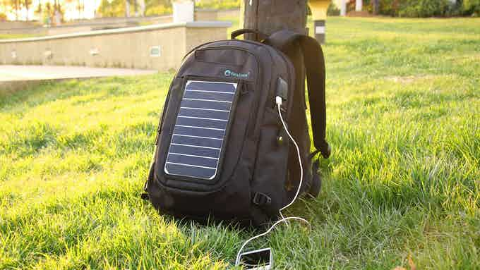 Go Green with SunPack-- Using solar energy to charge your devices