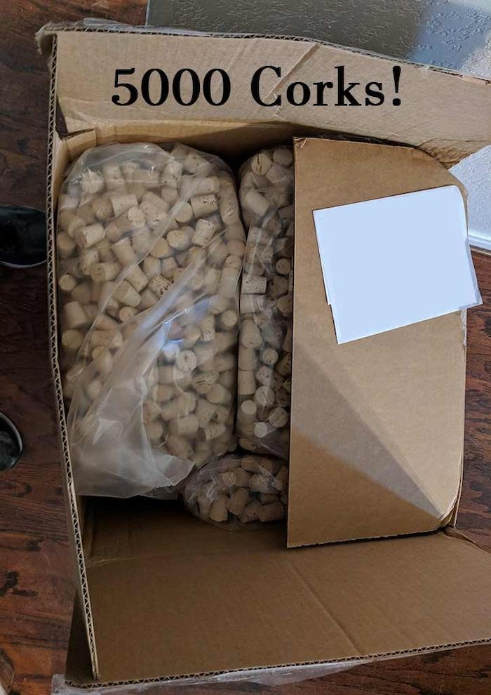 5000 corks!