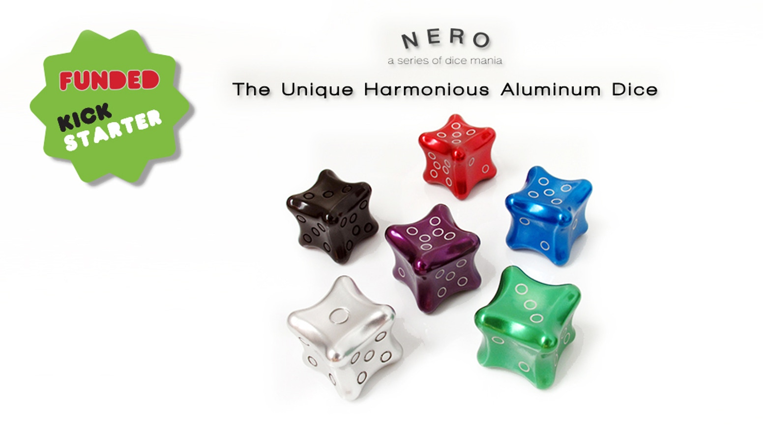 A harmonious aluminum desk toy to shine the gleam of you. The unique collection of the aluminum Dice
