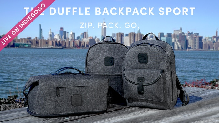 Wool & Oak's iconic Duffle Backpack, now with a water-resistant shell + luxury leather accents. 6 configurations with one quick zip.