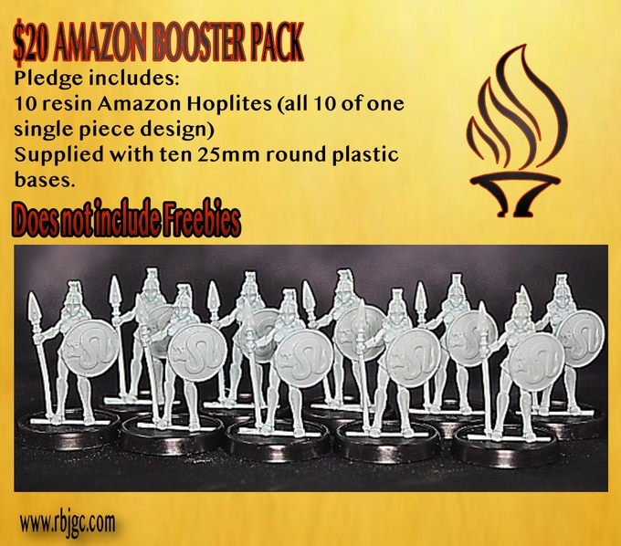 $20 TEN RESIN AMAZON HOPLITES