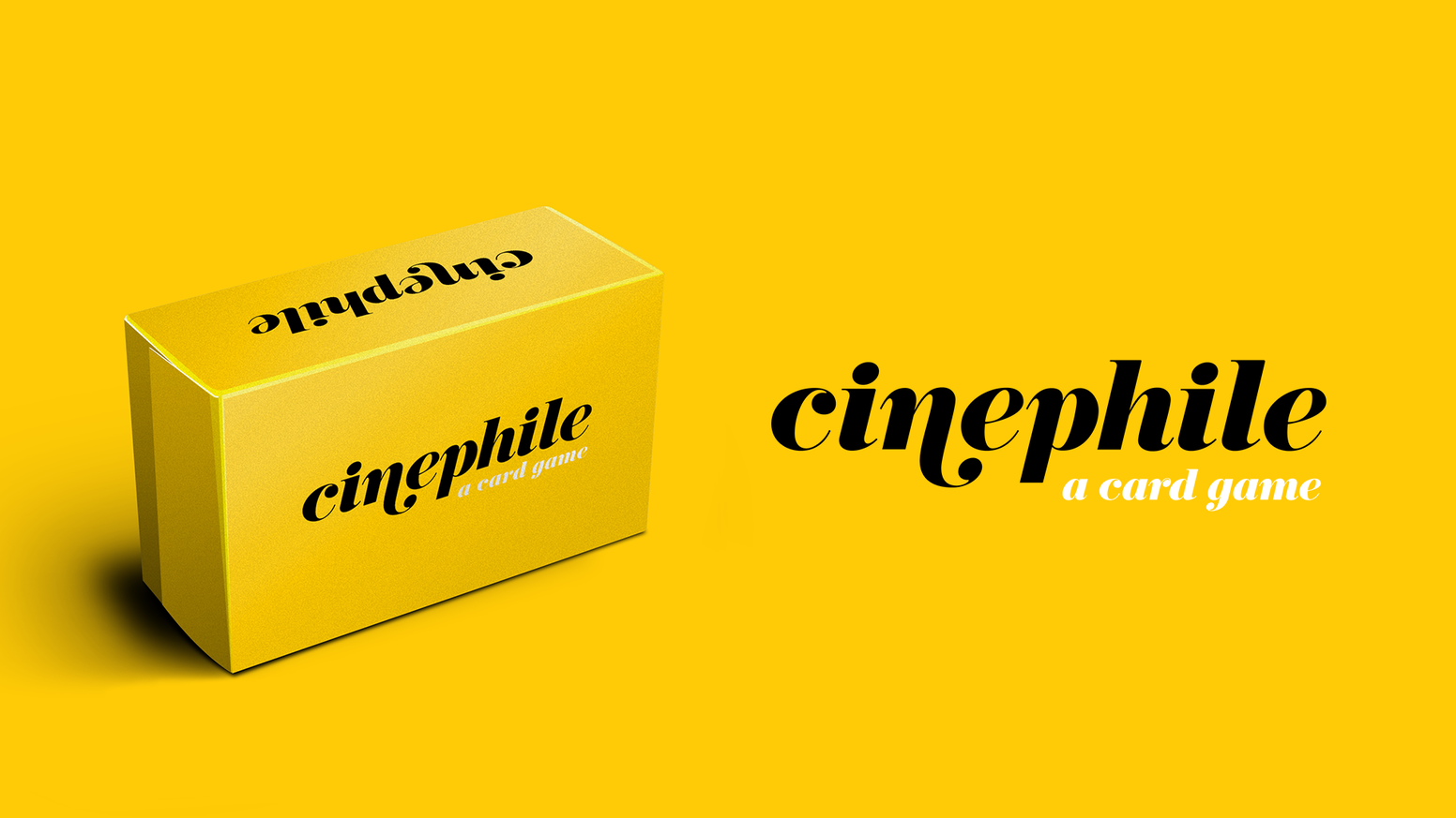The ultimate card game for film nerds, movie geeks and cinephiles. One deck. 150 cards. Multiple ways to play.