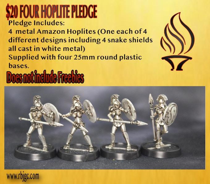 $20 FOUR AMAZON HOPLITES