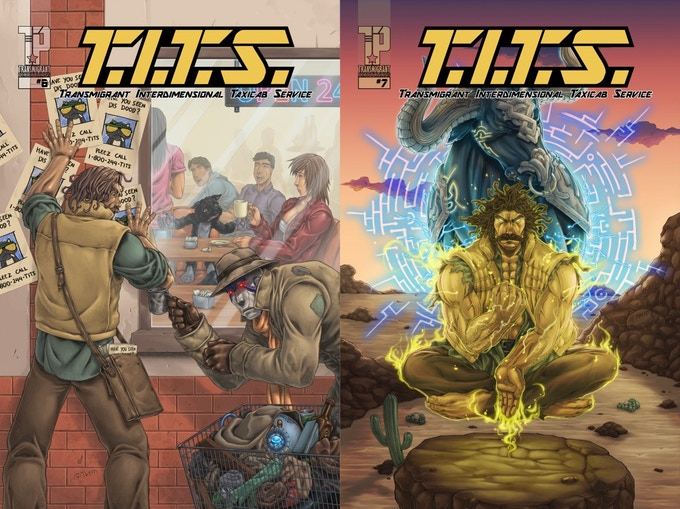 T.I.T.S. #6 & #7 COVERS