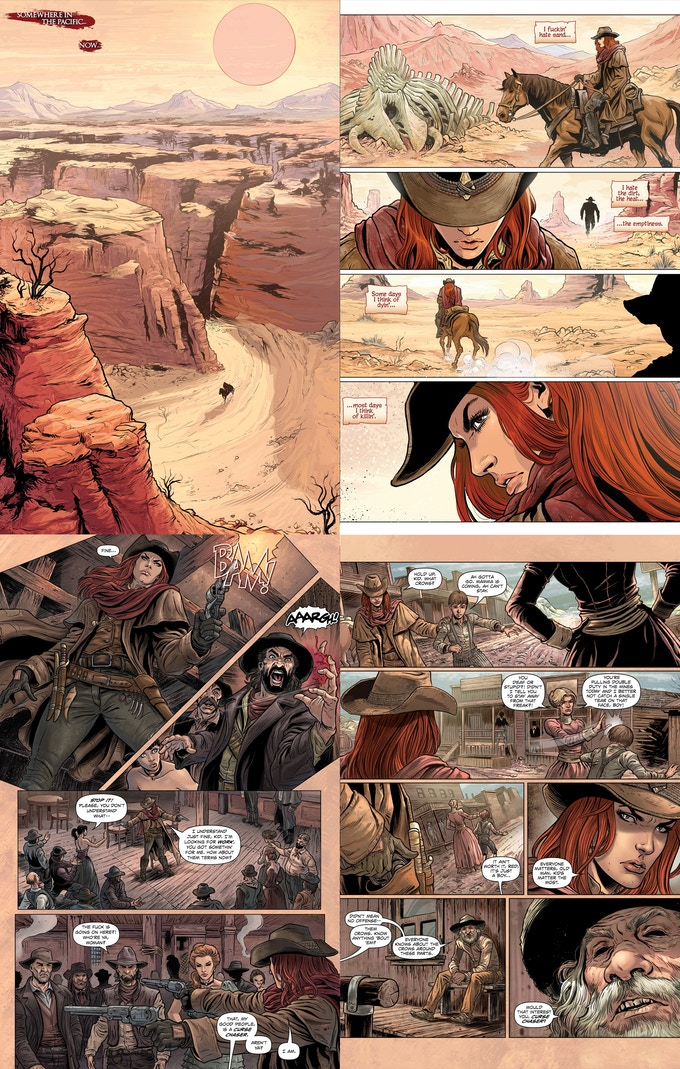 Sample pages from issue #1