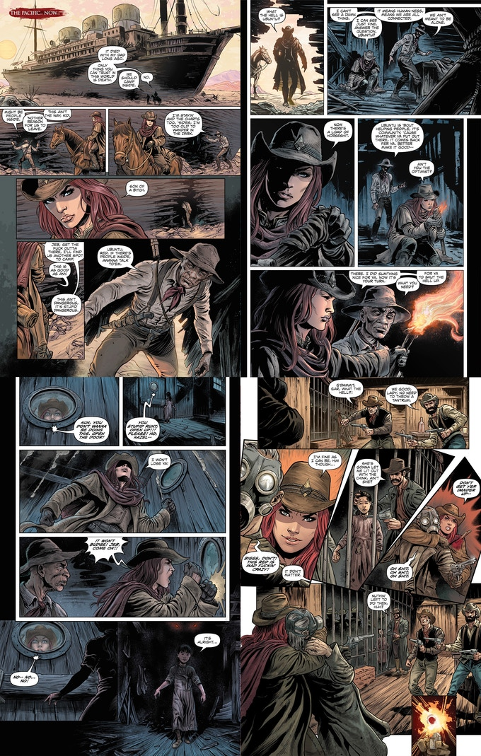 Sample pages from issue #2