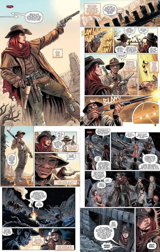 Sample pages from issue #4
